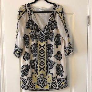 Alice and Olivia tribal print dress! Light wear